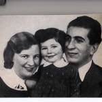 Prinzessin Soraya mit Eltern / siehe Geschichte Erb-Streit