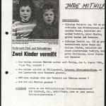 Fahndungsplakat der vermissten Weimar-Kinder